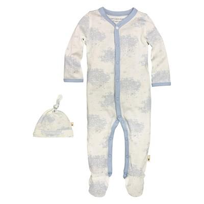 Newborn Boys' Burt's Bees Baby™ Coveral & Hat - Blue 3-6M
