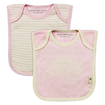 Newborn Girls' Burt's Bees Baby™ 2 Pack Bibs - Pink