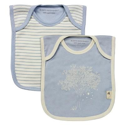Newborn Boys' Burt's Bees Baby™ 2 Pack Bibs - Blue