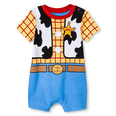 Disney Toy Story Newborn Boys' Romper - Yellow 0-3M