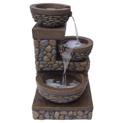 Bond Terraza Outdoor LED Lit Water Fountain