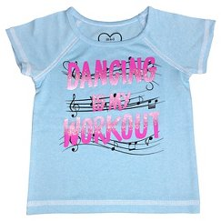 Baby Girls' Dancing is my Workout Active Tee - Blue