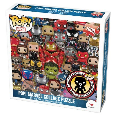 Pop! Marvel 1000pc Collage Puzzle with Figure