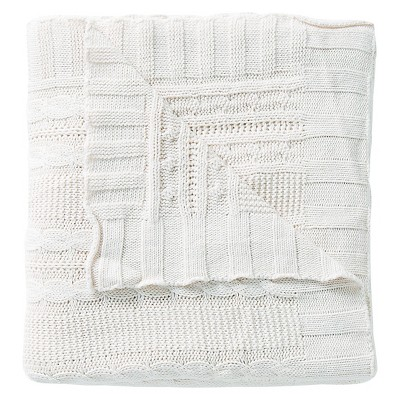 Dublin Cable Knit Throw - Ivory - 50x70