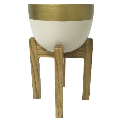 "Planter White and Gold (10"") - Room Essentials™"
