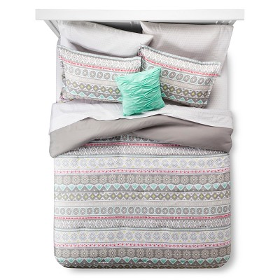 Global Stripe Queen Comforter Set Queen Gray - Xhilaration™