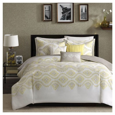 Colima 6 Piece Duvet Cover Set- Yellow (King/ Cal King )
