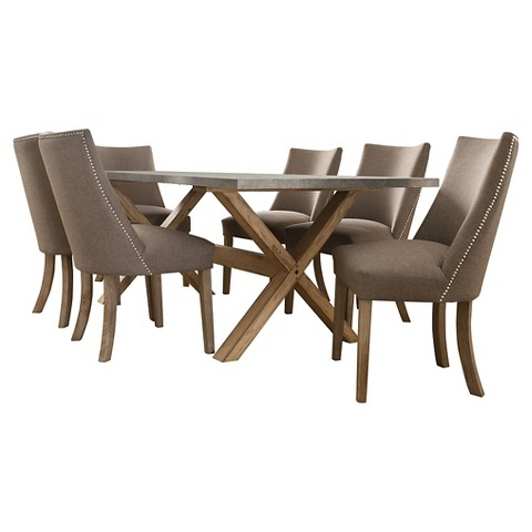 leahlyn round dining room table top medium brown target