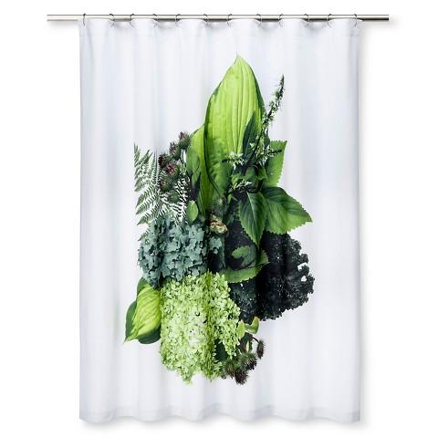 STILL Shower Curtain Bouquet Of Kale Hosta Hyd Target