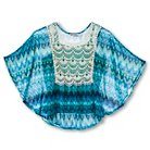 Lots of Love Girls' Lace Blouse - Blue L