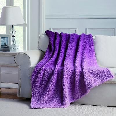 Jessica Ombre Throw - Plum - 50x60