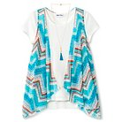 Lots of Love Girls' T-Shirt and Vest - Turquoise L