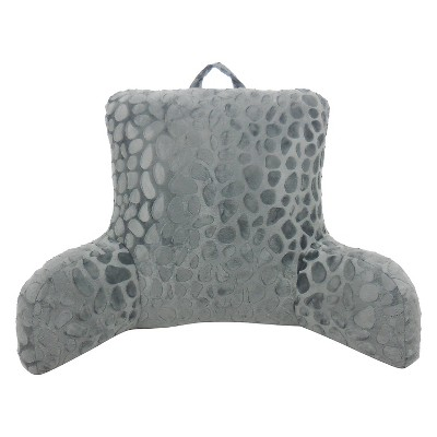 Elements Pebble Embossed Mink Bed Rest Lounger - Dark Gray