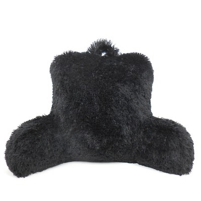 Elements Warmly Shaggy Fur Bed Rest Lounger - Black