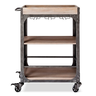 Franklin Bar Cart and Wine Rack - The Industrial Shop™