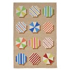 Liora Manne Ravella Fun Umbrellas Multicolored Indoor/Outdoor Rug