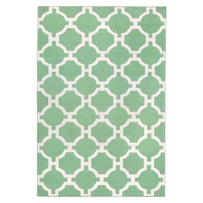 "Liora Manne Assisi Tile Indoor/Outdoor Area Rug - Green (3'6""x5'6"")"
