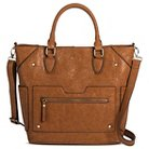 Bueno of California Women's Tote Handbag British - Tan