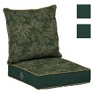 Bombay® Outdoors Palmetto Green Reversible Deep Seat Cushion Set with Adjustable Comfort Technology