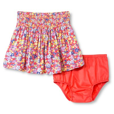 Baby Girls' Floral Mini Skirt Coral 12M - Genuine Kids from Oshkosh™