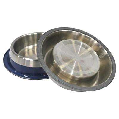Metallic Pet Bowl - Blue (S) - Boots & Barkley