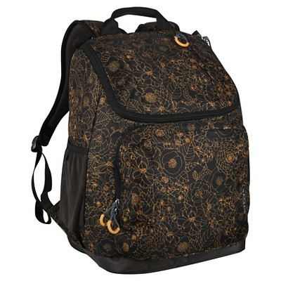 "Embark 17"" Recycled Content Jartop Backpack - Gold/Floral"