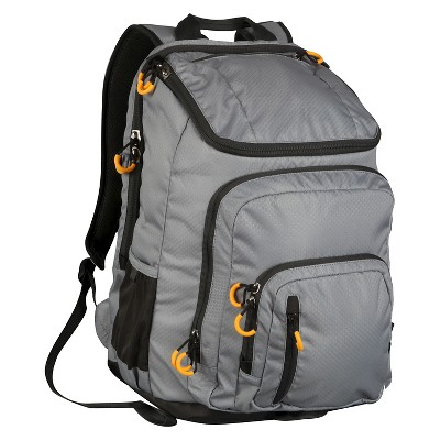 "Embark 19"" Recycled Content Elite Jartop Backpack - Grey"