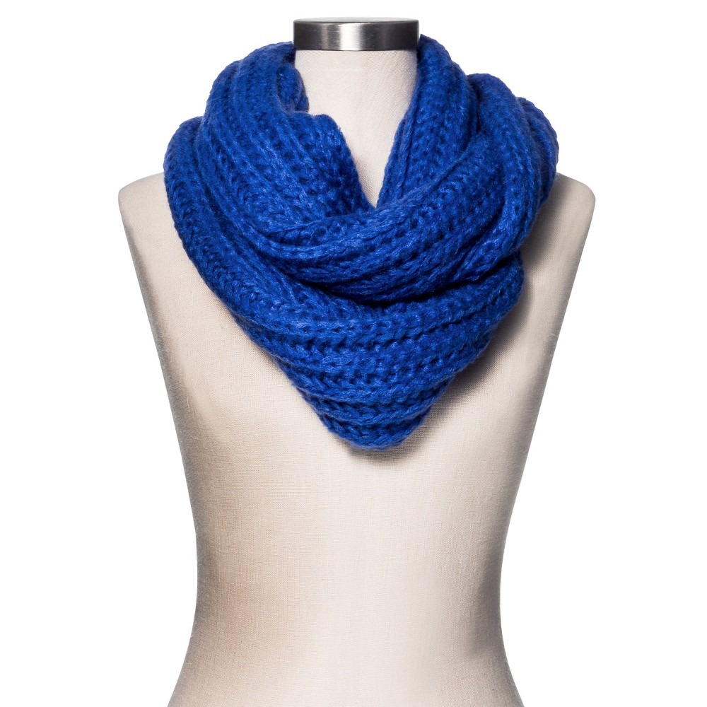 Women's Rib Knit Infinity Scarf - Merona, Blue