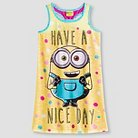 Despicable Me Minions Girls' Tank Nightgown - Yellow S