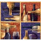 """Uncorked Puring Wine, Multi-colored, 100% Cotton, 43/44"""" Width, Fabric by the Yard"""