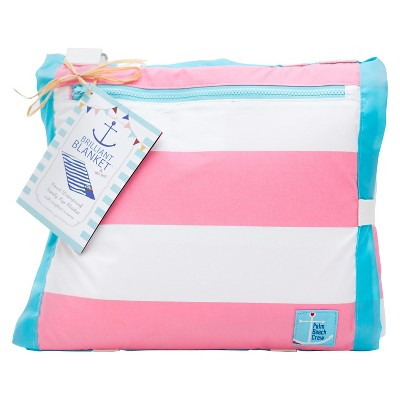 Palm Beach Crew - Brilliant Blanket Cabana Stripes -  Pink/White