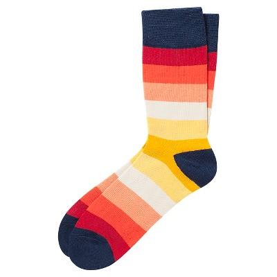 Men's Casual Crew Sock  Pair of Thieves- Sunset Stripe 8-12