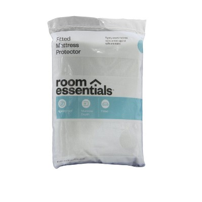 Fitted Mattress Protector White (Twin) - Room Essentials™