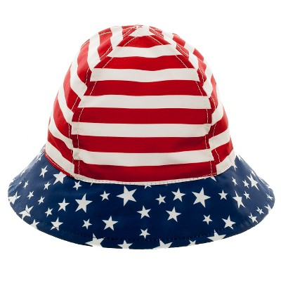 Baby Boys' Sars and Stripes Bucket Hat Red/White/Blue 12-24M