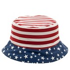 Toddler Boys' Stars and Stripes Bucket Hat - Red/White/Blue 2T-4T