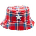 Toddler Boys' Plaid Bucket Hat - Red/White/Blue 2T-4T