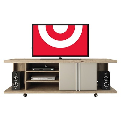 Manhattan Comfort Carnegie TV Stand in Nature and Nude