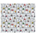 """Marvel Kawaii Superheros To The Rescue, White, 100% Cotton, 43/44"""" Width, Fabric by the Yard"""