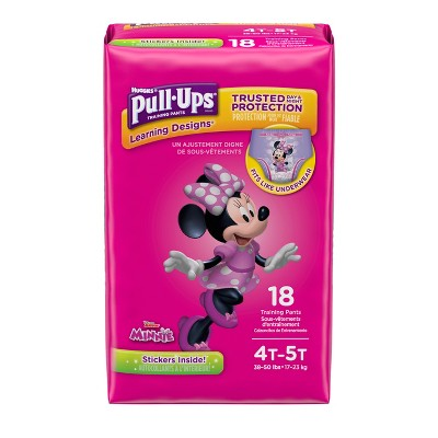 Huggies® Pull-Ups Girls Learning Designs Training Pants Jumbo Pack 4T-5T (18 Count)