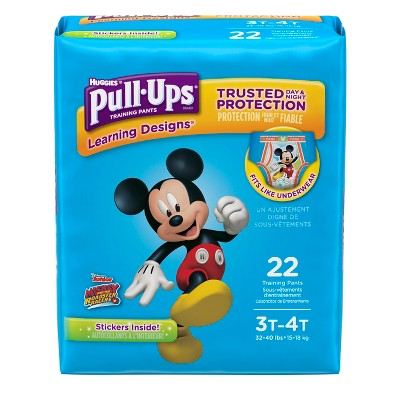 Huggies® Pull-Ups Boys Learning Designs Training Pants Jumbo Pack 3T-4T (22 Count)
