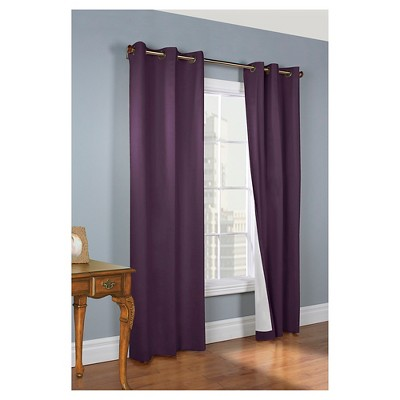 "Weathermate Grommet Top Curtain Panel Pair - Aubergine (80 x 63"")"