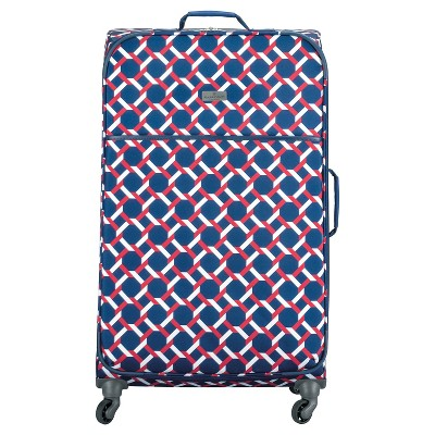 "Happy Chic by Jonathan Adler 28"" Luggage - Red/Navy Lattice"