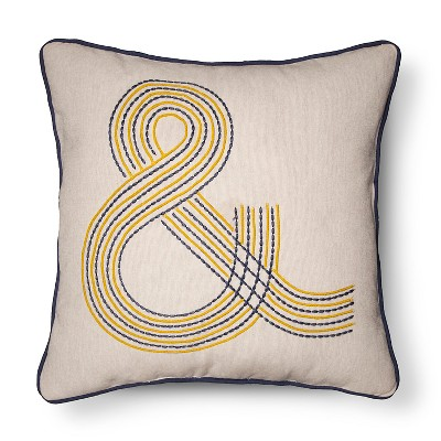 """&""Throw Pillow - Blue/Yellow - Room Essentials™"