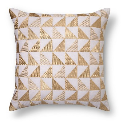 Metallic Triangle Throw Pillow Gold - Xhilaration™