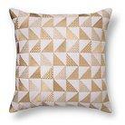 Metallic Triangle Throw Pillow Gold - Xhilaration™