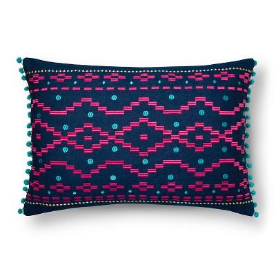 Disco Denim Decorative Pillow  Multicolor - Xhilaration™