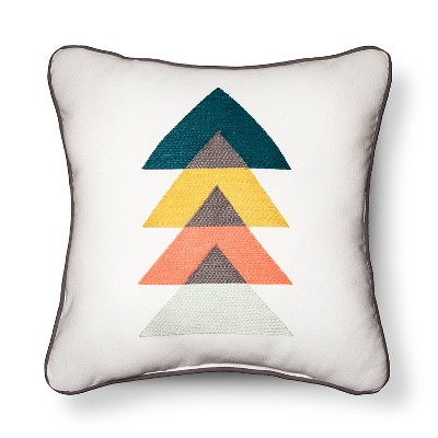 Embroidered Triangles Throw Pillow - Room Essentials ™