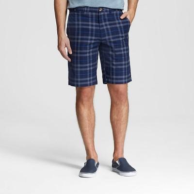 Men's Chino Club Shorts Navy Plaid 28 - Merona™