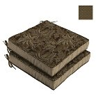 Bombay® Outdoors Palmetto Espresso Reversible Seat Cushion (2-Pack)