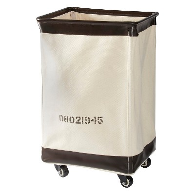 American Vintage™ Laundry Hamper - Cream Canvas